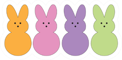 Easter Bunnies Candy Sticker