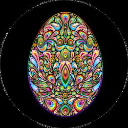 Easter Egg Psychedelic Art Design Sticker