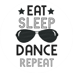 Eat Sleep Dance Repeat Sport Saying Sticker