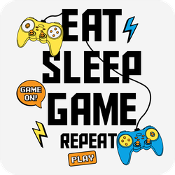 Eat Sleep Game Repeat Play Sticker