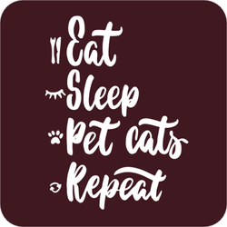 Eat Sleep Pet Cats Repeat Sticker