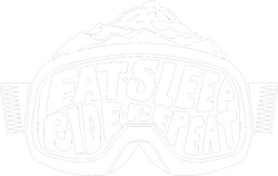 Eat Sleep Ride Repeat Goggles Snowboarding Sticker