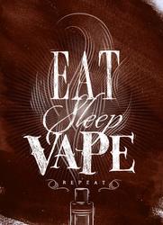 Eat Sleep Vape Repeat Sticker