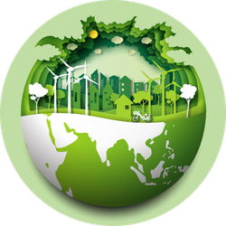 Eco Friendly And Renewable Energy Earth Sticker