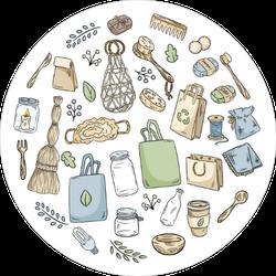 Eco Friendly Doodles Sticker