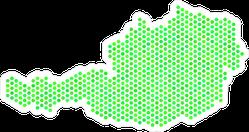 Eco Green Austria Map Sticker