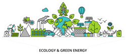 Ecology And Green Energy Sticker