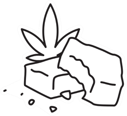 Edible Marijuana Cannabis Fudge Brownie Sticker