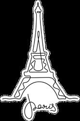 Eiffel Tower Sketch Sticker