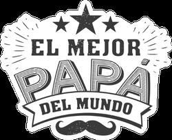 El Mejor Papa Del Mundo Sticker