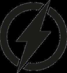 Electric Lightning Power Icon Sticker