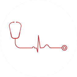 Electrocardiogram With Stethoscope Healthy Heart Sticker