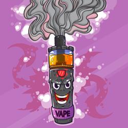 Electronic Cigarette Vape Cartoon Sticker