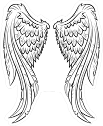 Elegant Angel Wings Sticker