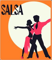 Elegant Couple Salsa Dancers Sticker