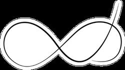 Elegant Infinity Sign, Delicate Sticker