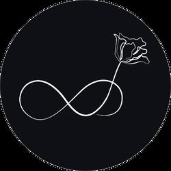 Elegant Infinity Sign Flower Illustration Sticker