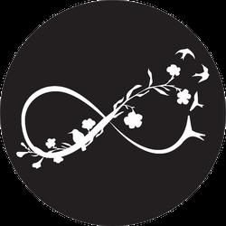 Elegant Nature Infinity Sign Illustration Sticker