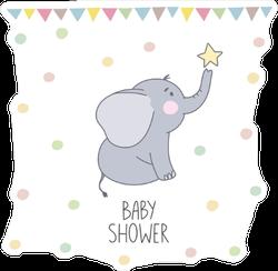 Elephant Baby Shower Sticker