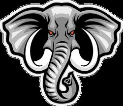 Elephant Head Sports Mascot Sticker