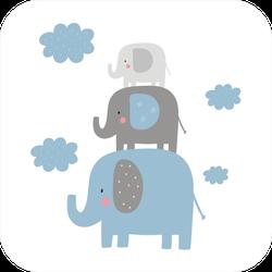 Elephant Stack Sticker