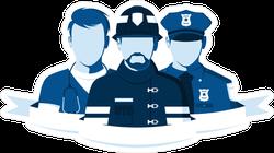 Emblem Of Rescue Team Sticker