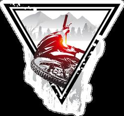 Emblem With Mountain Bike And Helmet Sticker