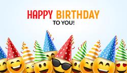 Emoji Birthday Happy Sticker