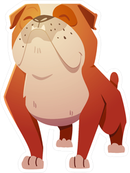 English Bulldog Dog Sticker