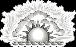 Engraving Sunrise Sticker