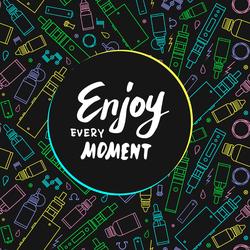 Enjoy Every Moment Vape Sticker