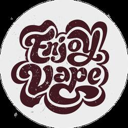 Enjoy Vape Vintage Sticker