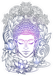 Enlightening Buddha Purnima Sticker