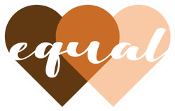 Equal On Skin Equality Heart Illustration Sticker