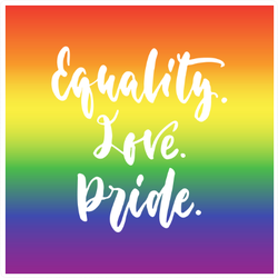 Equality. Love. Pride. Sticker