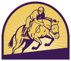 Equestrian Show Jumping Sticker