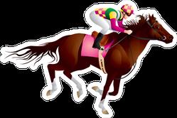 Equestrian Sport Horse And Jockey Sticker