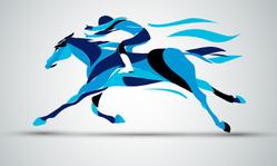 Equestrian Sport Silhouette Sticker