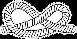 Eternity Knot - Cartoon Rope Sticker