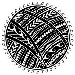 Ethnic Maori Style Tribal Sun Sticker