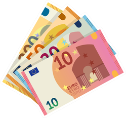Euro Banknotes Sticker