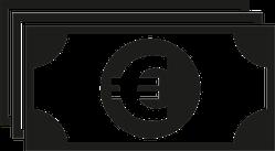 Euro Bills Icon Sticker
