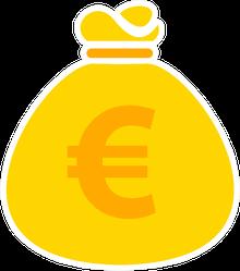 Euro Money Bag Icon Sticker