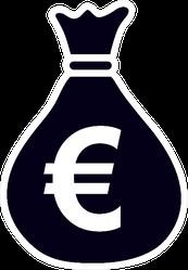 Euro Money Bag Symbol