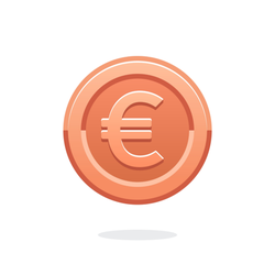 European Currency Coin Sticker