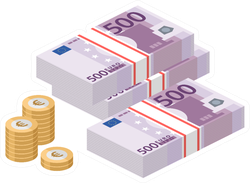 European Currency Sticker