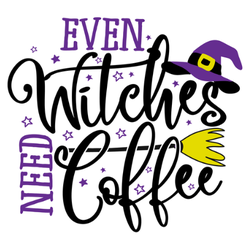 Even Witches Need Coffee Sticker