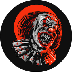 Evil Clown With Red Details Sticker