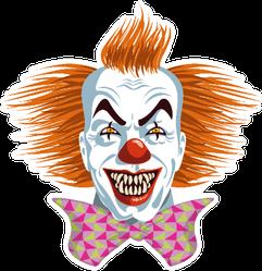 Evil Killer Clown Pink Bow Sticker