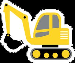 Excavator Digger Truck Construction Tractor Sticker